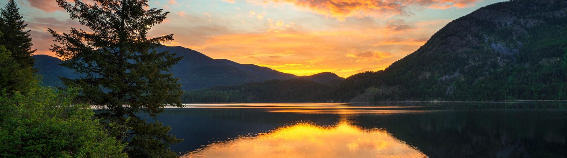 hero image-sunrise over lake