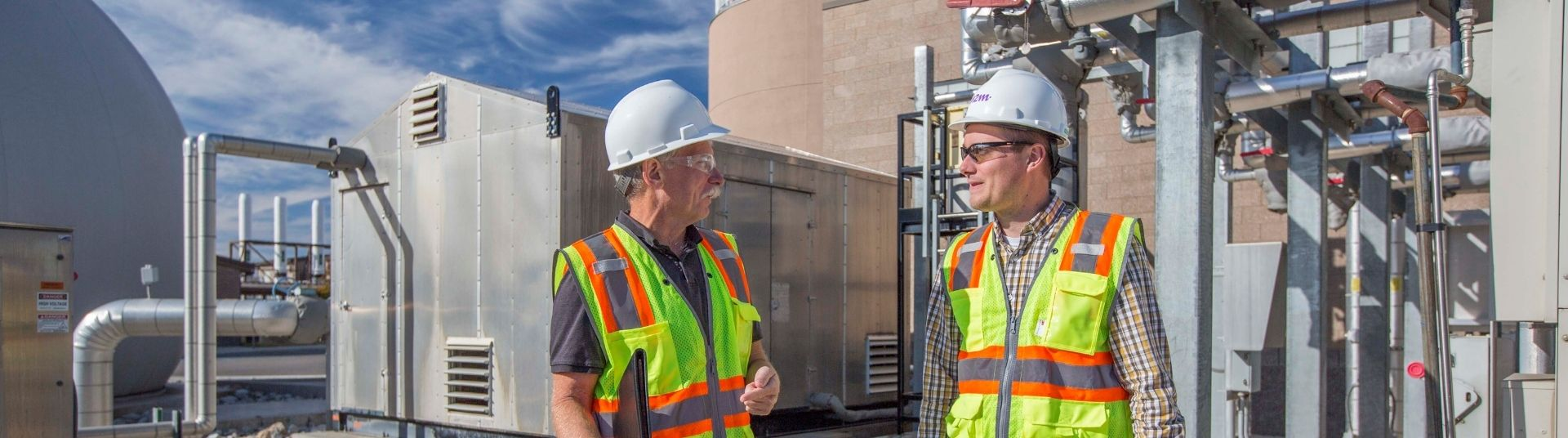 Spokane Clean Air consults during a source inspection.