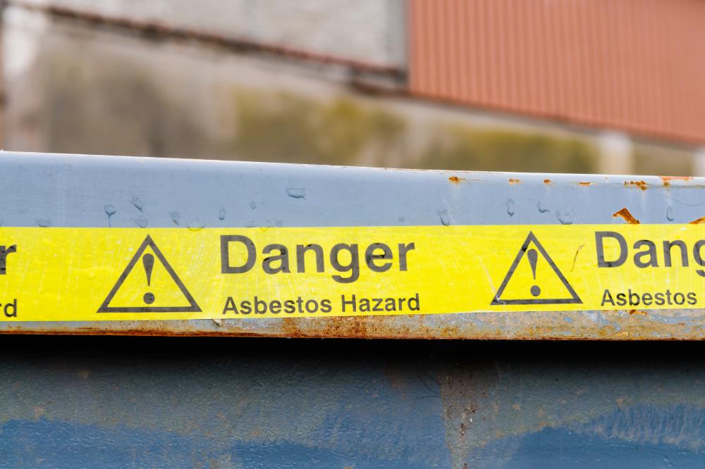 Caution tape for asbestos